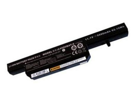 Batteri til C4500BAT-6 for Clevo & Hi-Grade& Pcspecialist Optimus&ChiliGREEN laptop(kompatibelt)