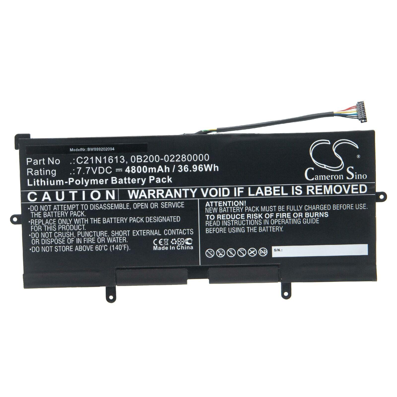 Batteri til C21N1613 Asus Chromebook Flip C302CA-DHM4 C302SA C21PQC5 (kompatibelt)