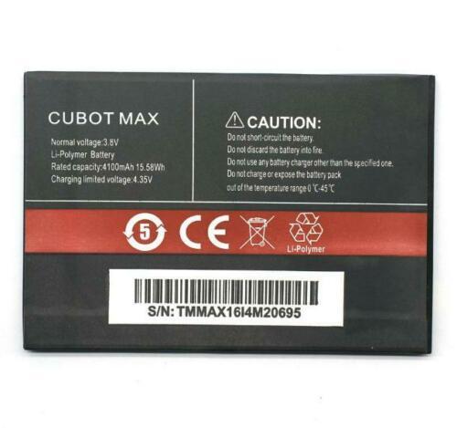 Batteri til 4100MAH Cubot Max Smartphone 3.8V (kompatibelt)