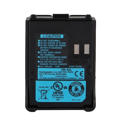 Batteri til Kenwood PB-42, PB-42L, PB-42Li TH-F6A, TH-F6E, TH-F7, TH-F7A (kompatibelt)