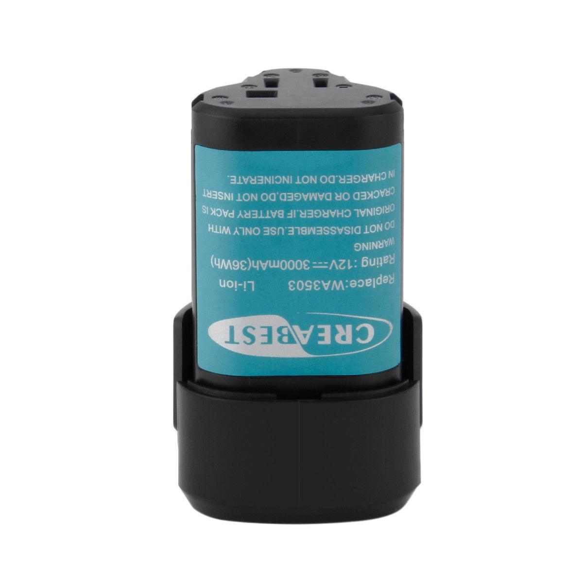 Batteri til WA3503 WA3509 RW9300 WORX WX382 WX540 Rockwell RK2510K 12V (kompatibelt)
